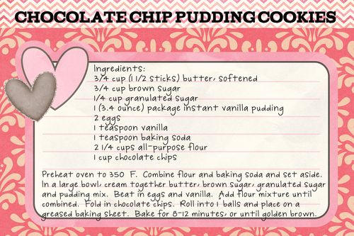 Chock Chip Pudding Cookies