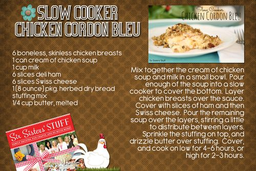 Slow Cooker Cordon Bleu