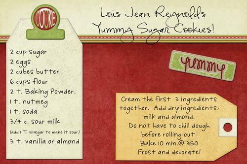 Lois Jean Reynolds Sugar Cookies