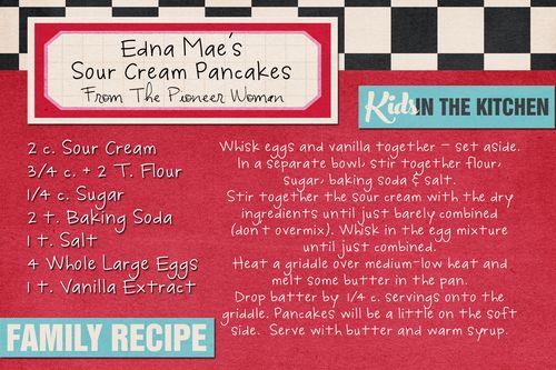 Sour Cream Pancakes PW